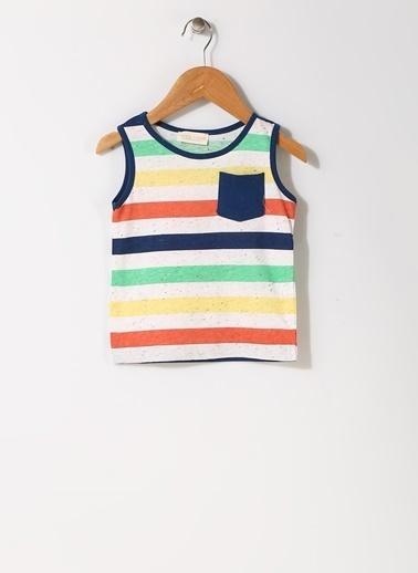 Mammaramma Mammaramma Çizgili Renkli İç Giyim Atlet Beyaz